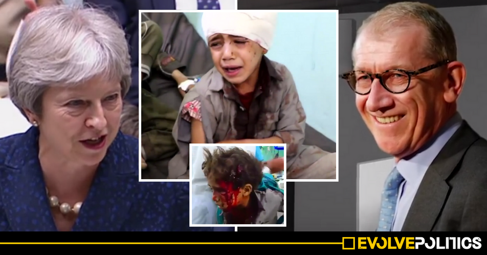Theresa May's Husband's firm PROFITED from Saudi massacre of 40 school children in Yemen
