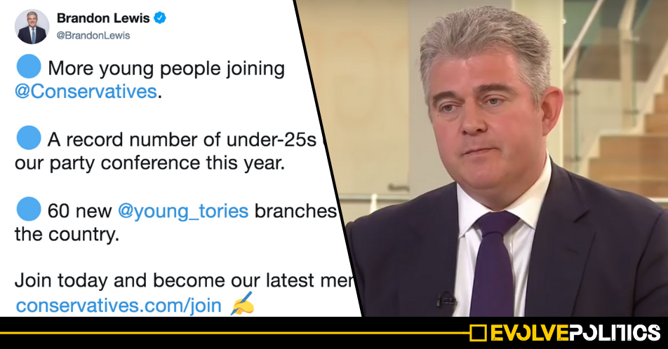 Tory Chairman Brandon Lewis humiliates himself after claiming