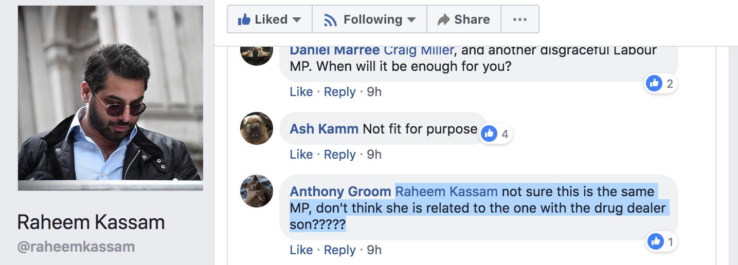 Raheem Kassam - Fiona Onasanya - Kate Osamor Libel Comment 3
