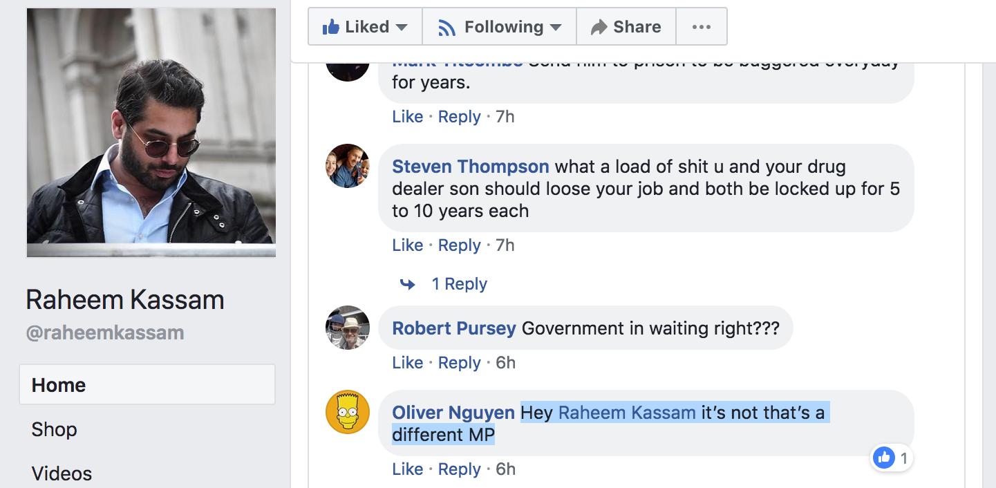 Raheem Kassam - Fiona Onasanya - Kate Osamor Libel Comment 1