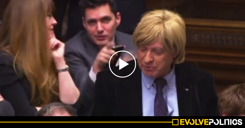 WATCH: Tory MPs caught openly mocking Tory colleague behind his back during PMQs [VIDEO]