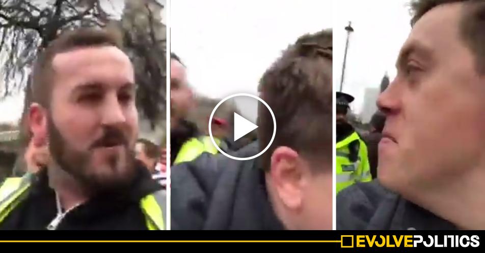 WATCH: Pro-Corbyn journalist Owen Jones viciously mobbed by vile far-right Yellow Vest thugs [VIDEO]