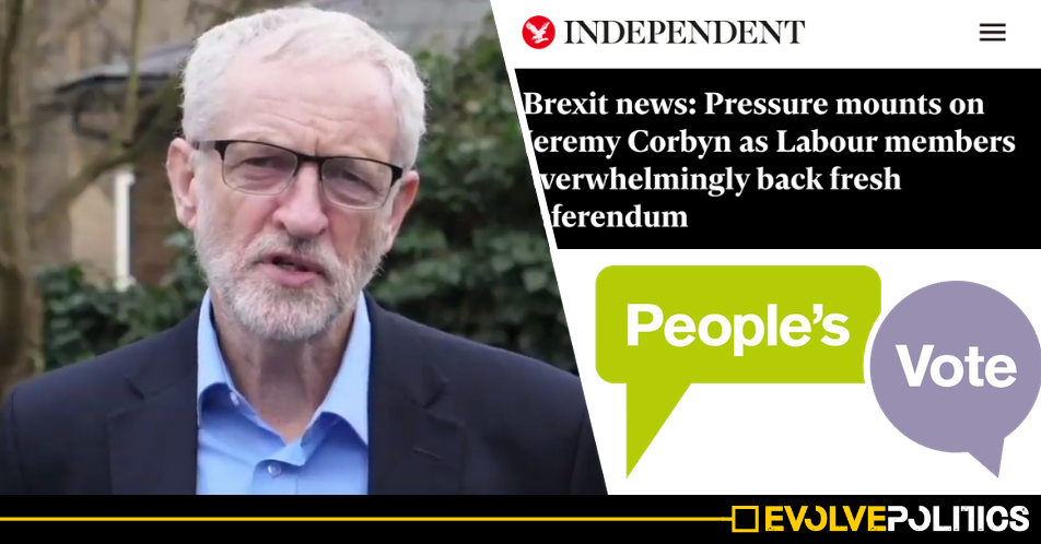 Vast majority of Labour members support Jeremy Corbyn's Brexit position, People's Vote poll shows