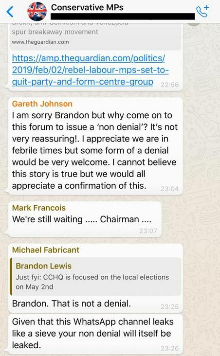 Leaked Messages Gareth Johnson