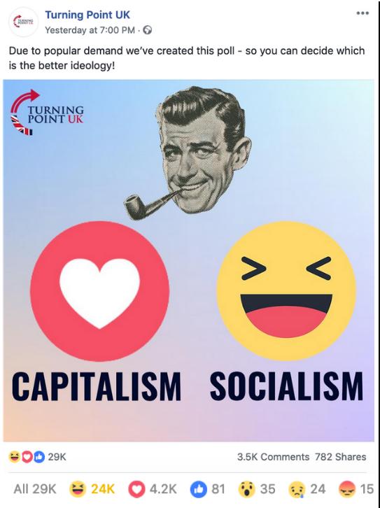 Turning Point UK Capitalism Socialism Poll