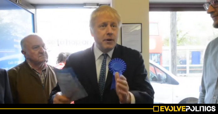 Boris Johnson literally just got exposed lying about himself voting Tory in the Local Elections