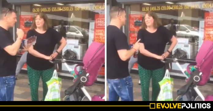 WATCH: Salford woman praised after brilliantly shutting down Tommy Robinson in the best way possible [VIDEO]
