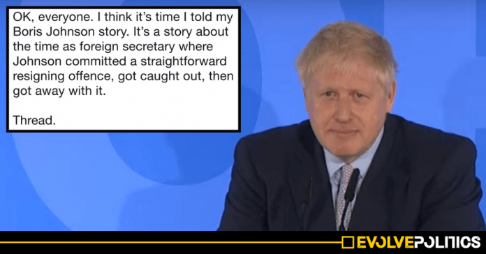 If you trust Boris Johnson to deliver Brexit, you might want to read this viral thread about his time as Foreign Secretary