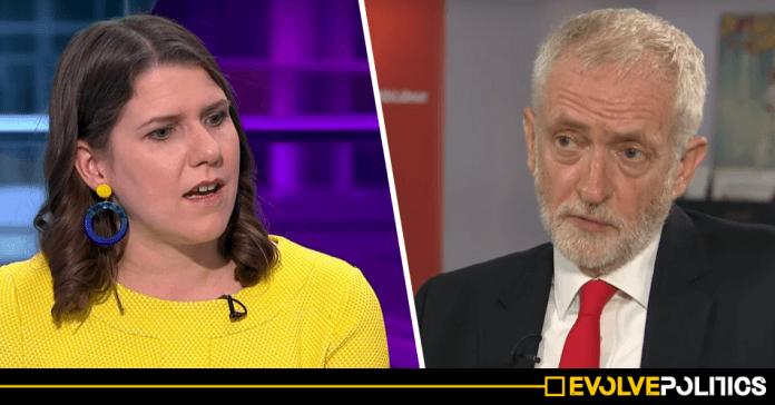 Jo Swinson falsely claims Corbyn