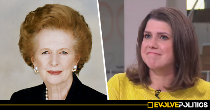 The Lib Dems are specifically targeting election adverts at fans of Margaret Thatcher