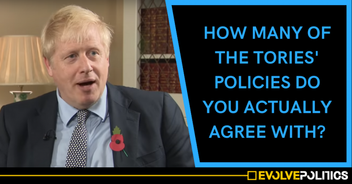 How many of the Conservative Party's policies do you actually agree with?