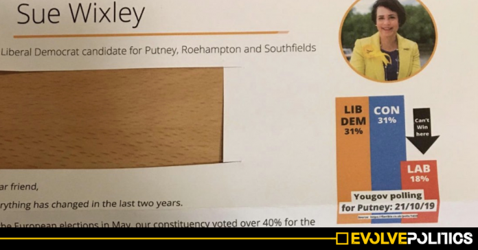 YouGov confirm the Lib Dems are now publishing entirely made-up polls on election leaflets