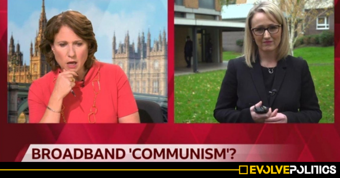 BBC slammed after framing Labour's Free Broadband plans as