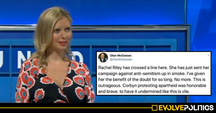 Rachel Riley slammed after erasing anti-apartheid message to label Jeremy Corbyn a racist