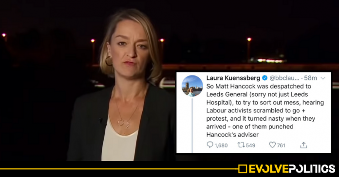 BBC's Laura Kuenssberg exposed spreading OUTRIGHT LIE about Labour activist