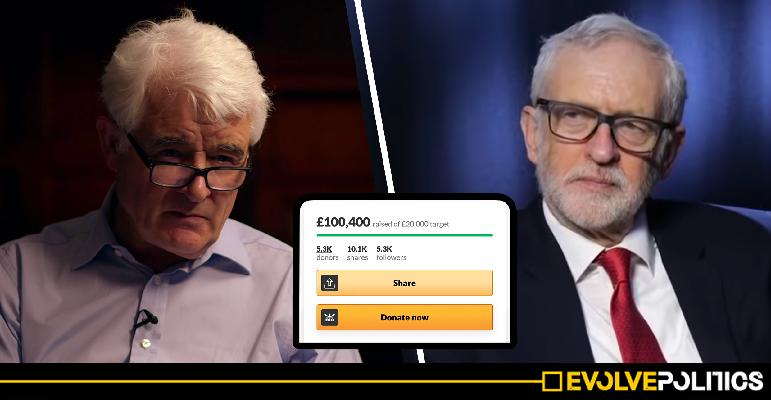 Jeremy Corbyn supporters raise over £100,000 in 24 hours to fund legal battle with BBC Panorama journalist