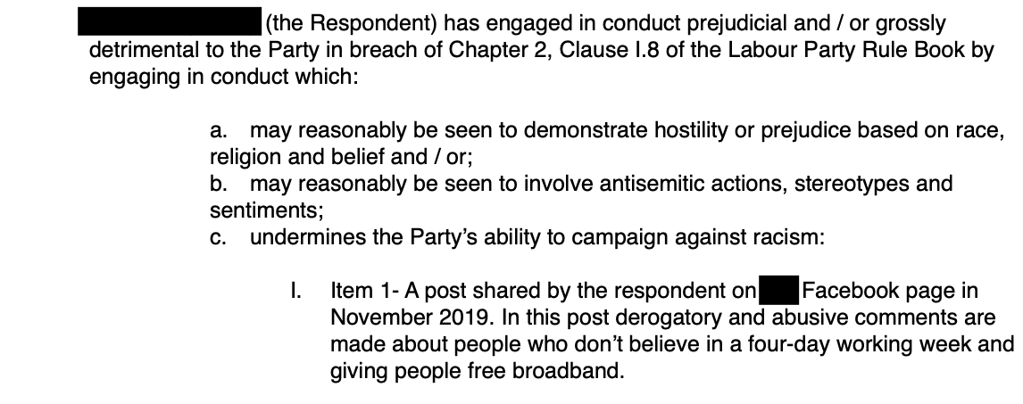 Labour Disciplinary Investigation Letter - Free Broadband 4 Day Week