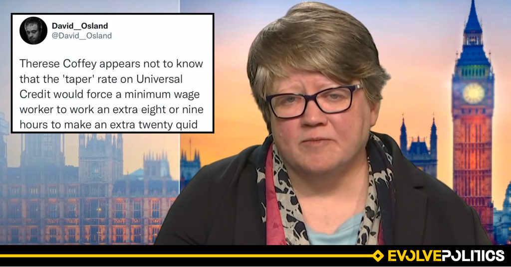 Thérèse Coffey is either monstrously incompetent, or a brazen liar. There can be no other reason for her despicable Universal Credit misinformation.